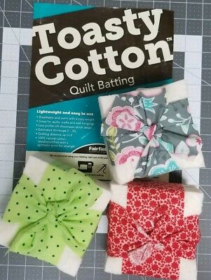 Fairfield Toasty Cotton Pre-Cut Batting Squares for Quilts CHOOSE SIZE BELOW