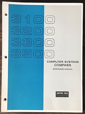 Control Data Corporation CDC 3100 Computer Systems Compass Reference Manual 1969