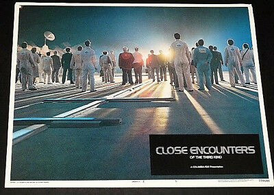 CLOSE ENCOUNTERS OF THE 3RD KIND orig 1977 Lobby Card #5  EXC. cond.