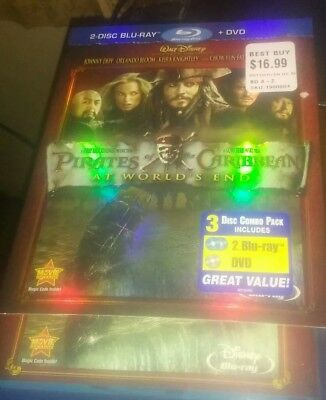 Pirates of the Caribbean: At Worlds End (Blu-ray/DVD, 2011, 3-Disc Set)