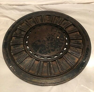 3- Pc. Antique Heat Register Floor Grate Vent Round Furnace Cast Iron