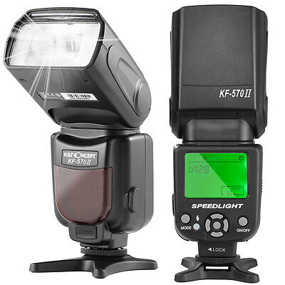 K&F Concept Wireless Camera Speedlite Flash Light for Canon Nikon GN54  Diffuser