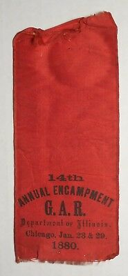 G.A.R. Department Of Illinois 14th Annual Encampment Chicago 1880