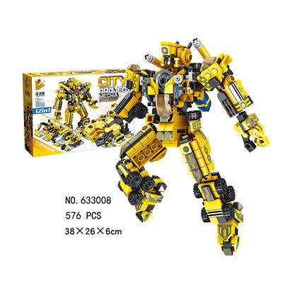 Education Armour Team Transform Robot Puzzle Toy for Kid Boy Present Set 12 in 1