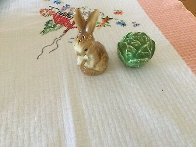 Vintage Goebel? Rabbit and Cabbage Shakers