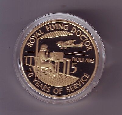 1928-1998 Proof $5 Coin ROYAL FLYING DOCTOR SERVICE Australia !)