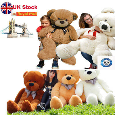 TEDDY BEAR EXTRA LARGE 100 CM SOFT HUGE BROWN STUFFED BIG GIANT CUDDLY UK Store