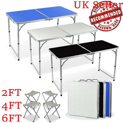 4ft 6ft Catering Camping Heavy Duty Folding Table Trestle Picnic Party BBQ Desk
