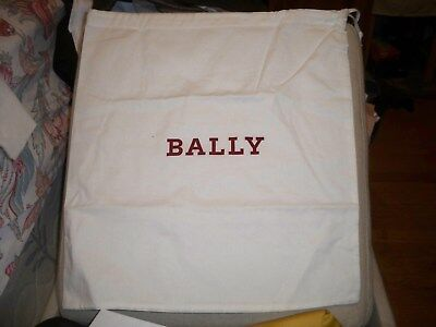 BALLY Switzerland Ivory Dust Bag Handbag Purse Shoes Boots Loafers 16