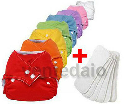 Lot 16 Layers Washable TE1 +16 Inserts Colours In Choose One Size Adjustable