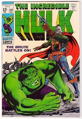 Marvel Comics THE INCREDIBLE HULK Issue 112 The Brute Lives On! VFN+ 8.5