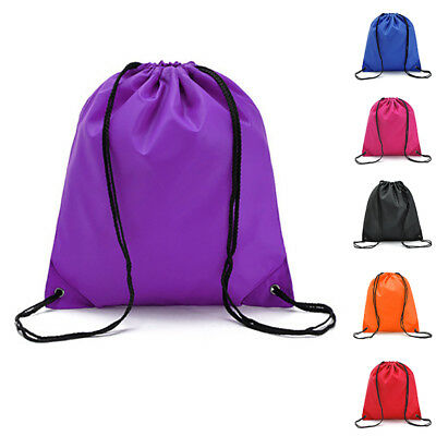 1x DRAWSTRING BACKPACK RUCKSACK BAG SCHOOL GYM SPORTS PE BOOKS DANCE GYM BAG a028b406e32f9
