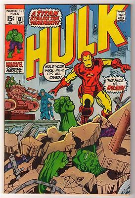 Marvel Comics VFN- 7.0  HULK  #131  HULK IS DEAD avengers iron man