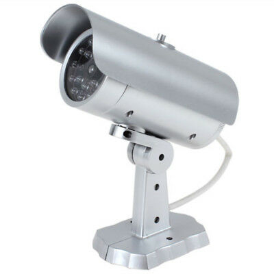 Bullet Fake Dummy Surveillance Security Camera CCTV Record Light Cam Home Secure