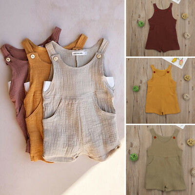 AU Newborn Cute Baby Girls Boys Romper Bodysuit Jumpsuit Summer Clothes Outfits