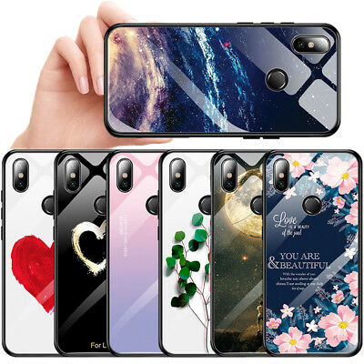 Temper Glass TPU Bumper Case For Xiaomi 8 Redmi Note 5/6 Pro Hybrid Hard Cover
