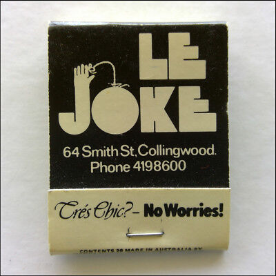 Le Joke 64 Smith St Collingwood 4198600 Cres Chic No Worries Matchbook (MK46)
