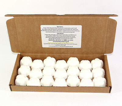 Bath Bombs Baby Powder scented 21 x 10g Flowers Bee Beautiful reduced plastic