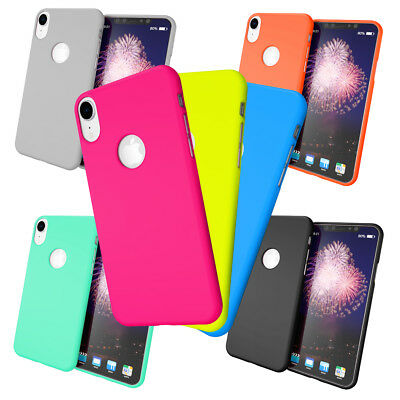 NALIA Case for iPhone XR, Ultra-Thin TPU Cover Neon Silicone Back Protector Skin
