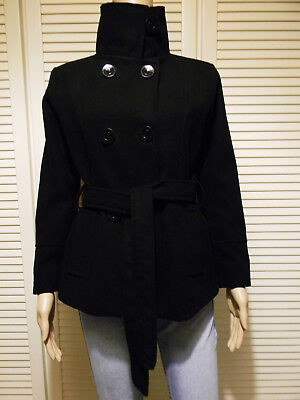Giacca Giaccone Invernale Cappotto Corto Paltò Donna Lana Nero MADE IN  ITALY S 1ac433d02aa