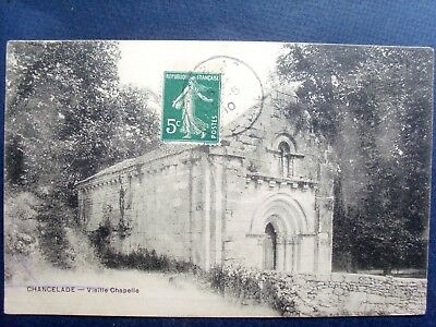24 ,chancelade ,la vieille chapelle en 1910