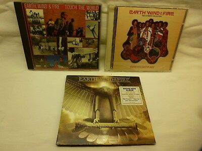 Earth, Wind & Fire - 3 Cd's. Touch The World, Ultimate Collection, Now, Then &..