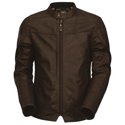 """Roland Sands RSD Walker Leather Motorcycle Jacket - BROWN - XL (45-47"""" chest)"""