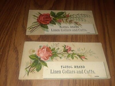 Victorian Trade Card ~ Rochester , Ny ~ Ocumpaugh ~ Floral Brand Collars And Cuf
