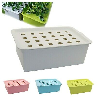 Plant Site Hydroponic Kit Garden Pots Planters Seedling Indoor Cultivation Box