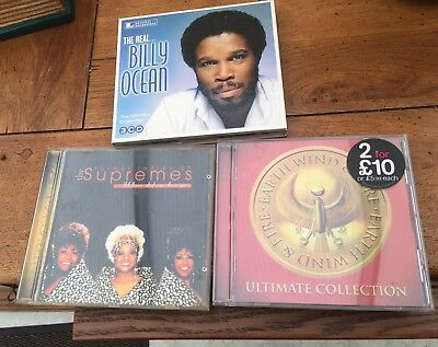 Billy Ocean 3 Cd Earth Wind & Fire The Ultimate Collections & Supremes All Mint