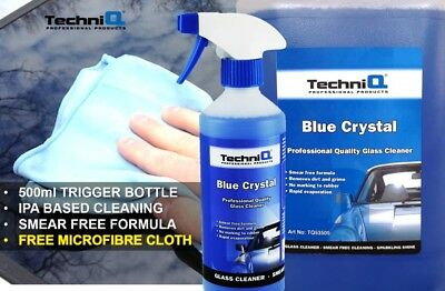Blue Crystal Window Cleaner Streak Free Alcohol Based Spray Car Cleaning Product