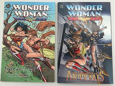 DC LOT Wonder Woman - The Contest & Challenge of Artemis TPB Softcover Joker