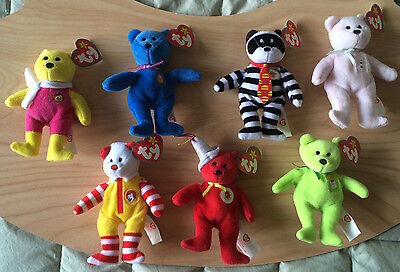 066de372f17 McDonald s Happy Meal 25th Anniversary Beanie Babies bears 2004 8pc + GLORY  BEAR