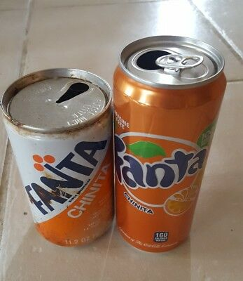 Puerto Rico Vintage and New Fanta China Orange Soda  cans collection