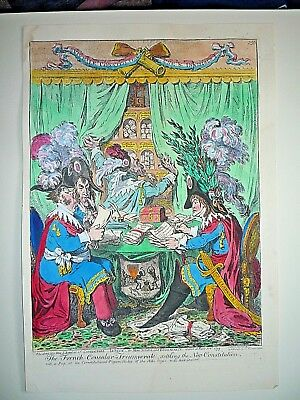 "James Gillray "" The French Consular Triumverate."""