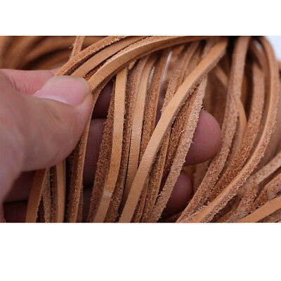 3mm-12mm Width  Flat Cow Real Leather High Quality Finding Cord String Lace Rope