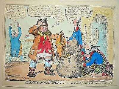 """James Gillray """" Opening Of The Budget."""""""