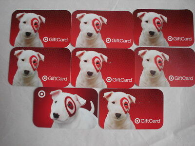 "Target Gift Card Memorabilia Collectible, ""Bullseye Spot"" No $ Value. Lot of 8"