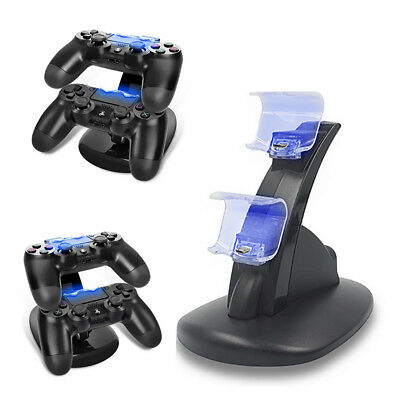 Charging Station Dock Stand Dualshock USB Port Charger Base for PS4 Controller