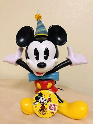 All New 2019 Disney Mickey Mouse 90th Birthday Sipper Cup & Disneyland Button