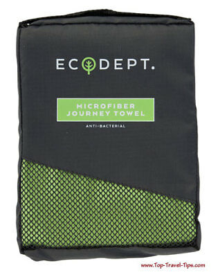 Ecodept Microfibre towel Green Travel/sport use New Boxed Anti-bacterial £20