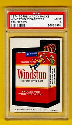 Wacky Packs Packages - Windstun Cigarettes PSA 9 Series 9
