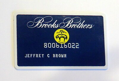 Credit Card Charge Card collectable Brooks Brothers