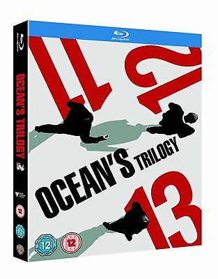 Ocean's Trilogy [Eleven, Twelve, Thirteen] (Blu-ray, 3 Discs, Region Free) *NEW*