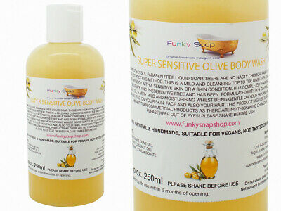 1 bottle Super Sensitive Olive Body Wash, SLS and Paraben free, 250ml