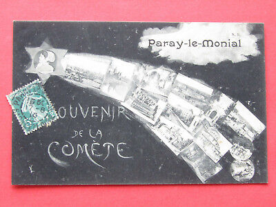 71 -   PARAY  le  MONIAL  -  Souvenir de  la  Comète  de  Halley    1910   - BE