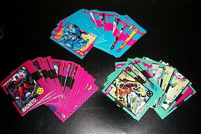 X-Men 1992 Impel Trading Card base Complete set of 100 + HOLOS XH-1-XH-5 Awesome