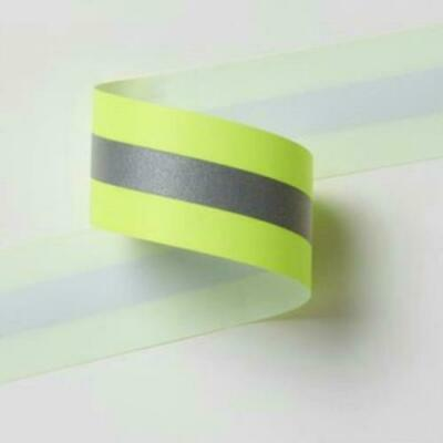 """3M 2.5"""" Lime Yellow Grosgrain 1/2"""" Scotchlite 9920 Roll 50 yards Trims HVLY25-2"""