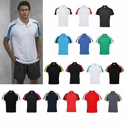 AWDis Just Cool Contrast Cool Polo - Men's polyester team sports/performance top