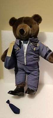 "Vintage  20"" Postal Mail-Man Letter Carrier  Patriot Plush Bear"